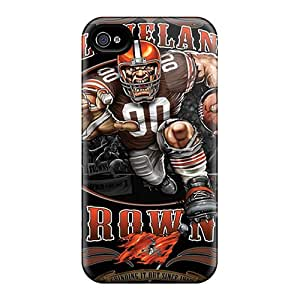 Protective Cell-phone Hard Cover For Iphone 4/4s With Allow Personal Design Stylish Cleveland Browns Skin LavernaCooney