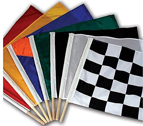 "24"" x 30"" Official Size Auto Racing Flag Set, Sets Include 7 Authentic Nylon Racetrack Flags, Made in USA"