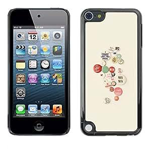 PC/Aluminum Funda Carcasa protectora para Apple iPod Touch 5 lapel pin activist cause smoking hipster / JUSTGO PHONE PROTECTOR