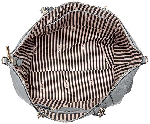 Liu Jo M Tote Arizona - Borse Donna, Grigio (Inox), 14x28x36 cm (B x H T)
