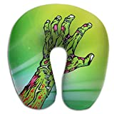 Mortimer Gilbert Green Zombie Hand Super Soft U-Shape Memory Travel Neck Pillow