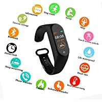 SBA999 RM-4 Waterproof Smart Intelligent Activity Tracker | Fitness Band Compatible to Xiaomi/Oppo/Vivo Mobile Phones Steps,Calorie Counter,BP, Heart Rate Monitor Music,Camera Controller