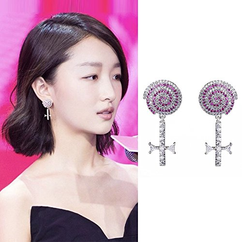 usongs sweet candy earrings elegant simple and compact personality influx people in Europe and America earrings fashion student (Best Candy Stores In America)