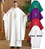 Spirit/Hope Monastic Chasuble (White)