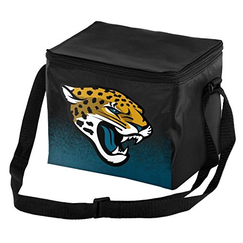 Forever Collectibles NFL Unisex Gradient Print Lunch Bag Coolergradient Print Lunch Bag Cooler, Jacksonville Jaguars, Standard