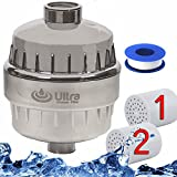 Best Water Softner Ultra Shower Water Purifier with 2 Replaceable Multi Stage Filter Cartridge & Tape. High Output Universal Compatibility. Remove Chlorine & Heavy Metals. Chrome