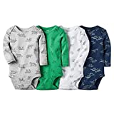 Carter's Baby Boys-4-Pack Long-Sleeve Bodysuits