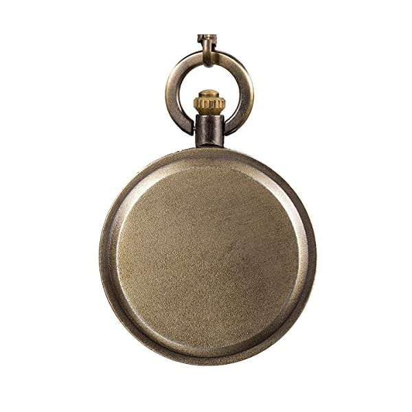 SIBOSUN Pocket Watch Engraved United States Navy Mark for Eagle Scout Quartz Men's Chain Box U.S. Navy