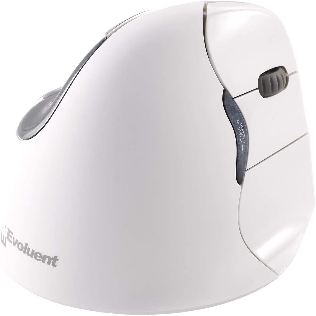 Evoluent VM4RB VerticalMouse 4 Right Hand Ergonomic Mouse with Bluetooth Connection For Mac OS (Regular Size)