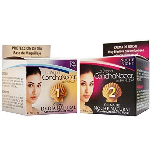 LA Original ConchaNacar A Cosmetic DAY & NIGHT Face Cream De Perlop 2 oz.. (2 Pack).. HPVagr