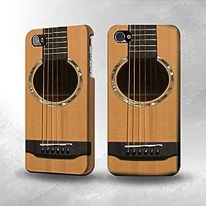 Apple iPhone 4 / 4S Case - The Best 3D Full Wrap iPhone Case - Acoustic Guitar