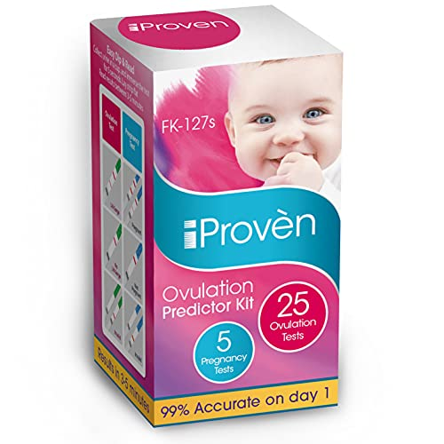iProven Ovulation Predictor Kit – 25 LH Ovulation Test Strips and 5 Early Response HCG Pregnancy Test Strips – Fertility…