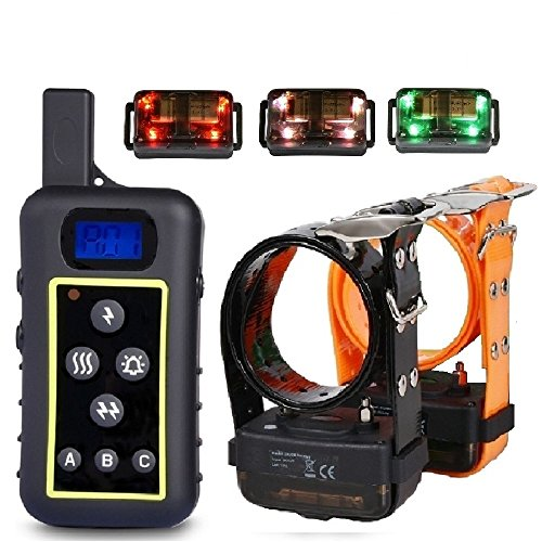 Hunting Dog Obedience Training E-Collars 100% Waterproof Medimu/Large Dog Shock Collars with Remote 2000 Meters- 2 Years Warranty For Sale