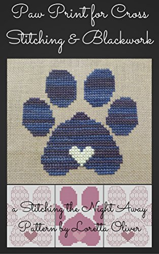 Penny's Paw of Love Pattern for Cross Stitch and (Blackwork Cross Stitch)