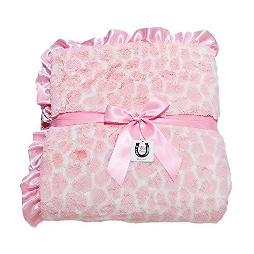 Max Daniel Gorgeous Pink Giraffe Adult Throw- Double Side...