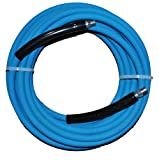 JGB Enterprises Eagle Hose Eagleflex II 6000 Wrapped Blue Nitrile RMA Class B Pressure Washer Hose Assembly, 3/8'' NPT Male X NPT Male Swivel with Guards, 6000 psi Maximum Pressure, 50' Length, 3/8'' Hose ID