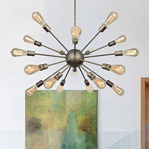 gn 18-Lights Sputnik Chandeliers - Oil Rubbed Bronze Finish, Retro Pendant Chandeliers (Family Finish)