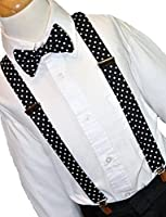 FABLOOK s tylish combo of POLKA DOT BOW TIE with POLKA DOT suspender for boys