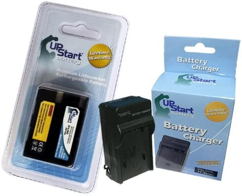 Replacement for Konica Minolta Maxxum 7D Battery and Charger 1600mAh 7.4V Lithium-Ion Compatible with Konica Minolta NP-400 Digital Camera Batteries and Chargers
