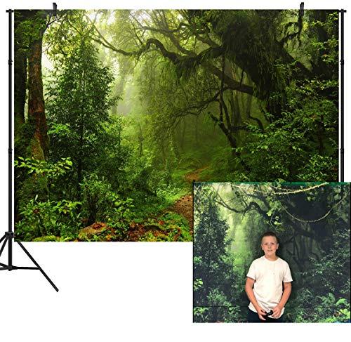 (DULUDA 7X5ft Jungle Forest Vinyl Photography Backdrop Customized Photo Background Studio Prop)