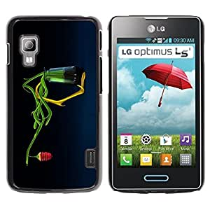 Be Good Phone Accessory // Dura Cáscara cubierta Protectora Caso Carcasa Funda de Protección para LG Optimus L5 II Dual E455 E460 // Abstract Honey Flower