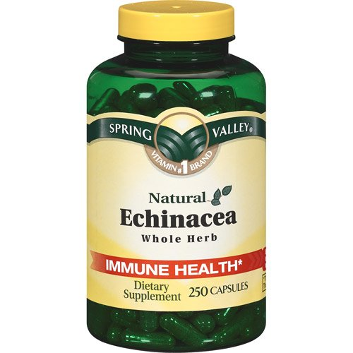 Spring Valley - Echinacea 760 mg, plante entière, 250 Capsules