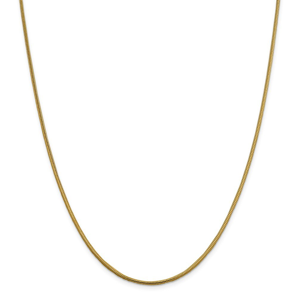 Top 10 Jewelry Gift 14k 1.85mm Round Snake Chain
