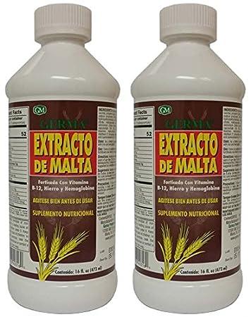 Amazon.com: Extracto de Malta 16 oz. with B12 and Hemoglobina Germa 2-PACK: Health & Personal Care