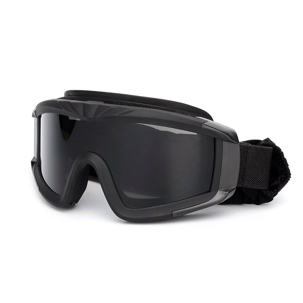 KKmoon Gafas de protecci/ón a prueba de viento para Militar Airsoft T/áctico Gafas de Moto Gafas Crossed Gafas Ciclismo