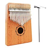 Kyпить Mugig Kalimba 17 keys with Instruction and Tune Hammer, Portable Thumb Piano Mbira Sanza Mahogany Body Ore Metal Tines на Amazon.com