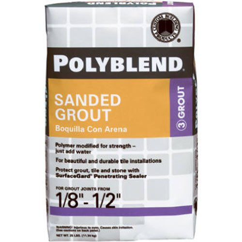 CUSTOM BLDG PRODUCTS PBG1125 25-Pound Snow Sanded Grout