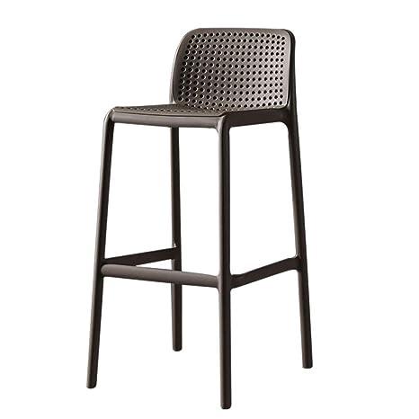 Amazon.com: Taburete alto apilable, silla de bar de ...