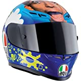 AGV GP-TECH VALENTINO ROSSI REPLICA FACE MOTORCYCLE RACE/STREET HELMET XXLARGE - XXL