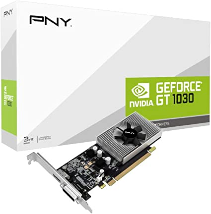 NVIDIA GeForce GT 1030 2GB GDDR5 PCI Express 3.0 Graphics Card Black PNY