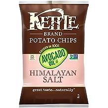 Kettle Potato Chips, Himalayan Salt Cooked in Avocado Oil/ Kettle Potato Chips, Chili Lime 6.5 Oz (Himalayan Salt, 1)