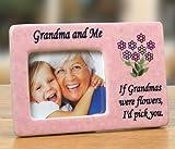 Grandma Frame - Grandma and Me Picture Frame - Pink Ceramic Frame with ...