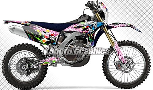 (Kungfu Graphics Custom Decal Kit for Yamaha WR450F 2012 2013 2014 2015, Black, Style 010)