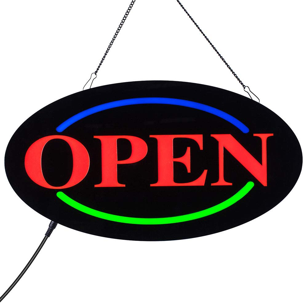 ACELED LED Open Sign, Neon Open Sign Business Advertisement Board Electric Display Sign, Three Modes Always Bright,Flashing, Slow Flashing, for Business, Walls, Window, Shop, bar, Hotel (Open) by ACELED