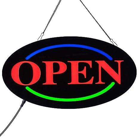 Amazon.com: ACELED LED señal abierta, neón señal abierta ...