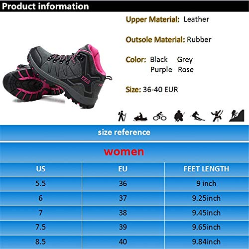 Shoes Slip Boots Collision Hiking Climbing FEOZYZ Anti Womens Trekking Boots Non Grey Heel mid qfqIv
