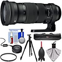 Sigma 120-300mm f/2.8 Sports DG APO OS HSM Zoom Lens with USB Dock + Tripod + UV Filter + Kit for Nikon Digital SLR Cameras