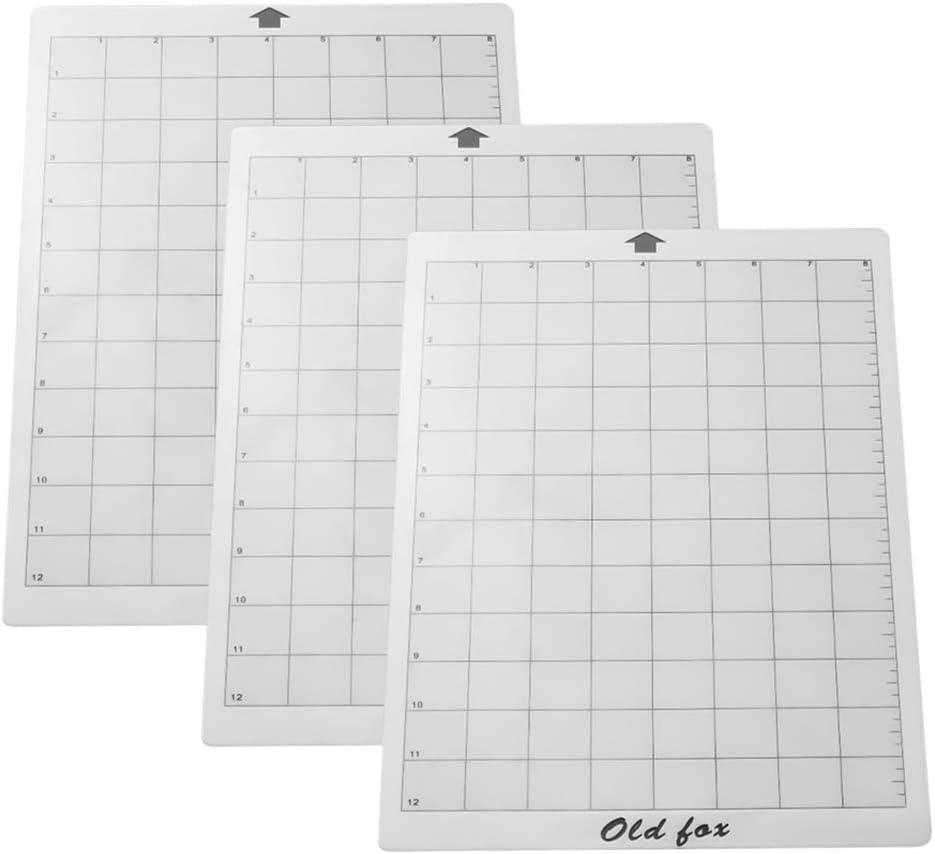 Noblik Alfombrilla Adhesiva de Repuesto de Corte de 3 Piezas con Rejilla de MedicióN de 8 por 12 Pulgadas para la MáQuina Plotter Explore Cameo de Silhouette: Amazon.es: Oficina y papelería