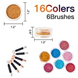 16 Colors Glitter Nail Sequins Powder Cosmetic