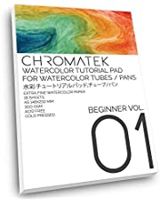 Watercolor Tutorial Pad for use with Watercolor Tubes and Chromatek Video Series