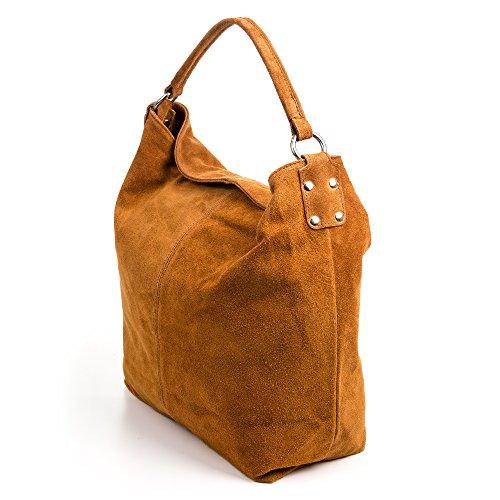 GAMUZA Véritable Made ITALY toucher femme à sac cuir in à Doux cuir main Vera Couleur en authentique pelle main FIRENZE italiana cm 35x40x16 CUIR ARTEGIANI Sac au en femme HUZ8Z1