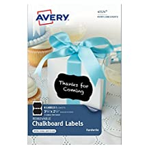Avery Removable Chalkboard Labels , 3-3/4 x 2-1/2 Inches, Pack of 8 Labels (41574)