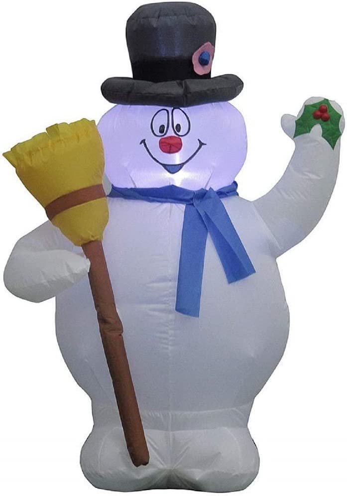 Amazon.com: Frosty el muñeco de nieve hinchable 3,5 pies de ...