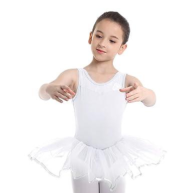 inhzoy Vestido Tutú de Danza Ballet para Niña Maillot Gimnasia ...