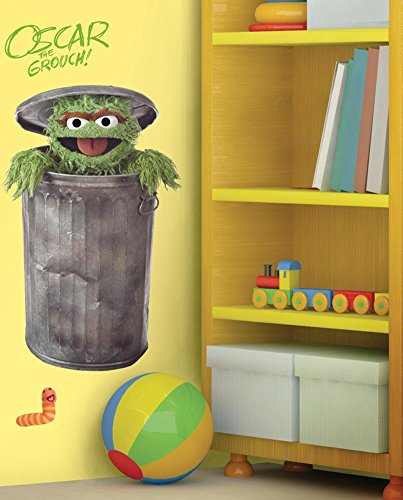 Sesame Street - Oscar Peel & Stick GiantWall Decal 18 x 40in