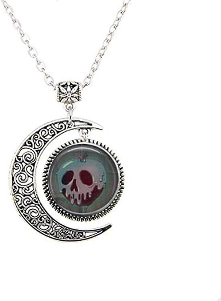 Evil Queen's Poison Apple Moon Necklace